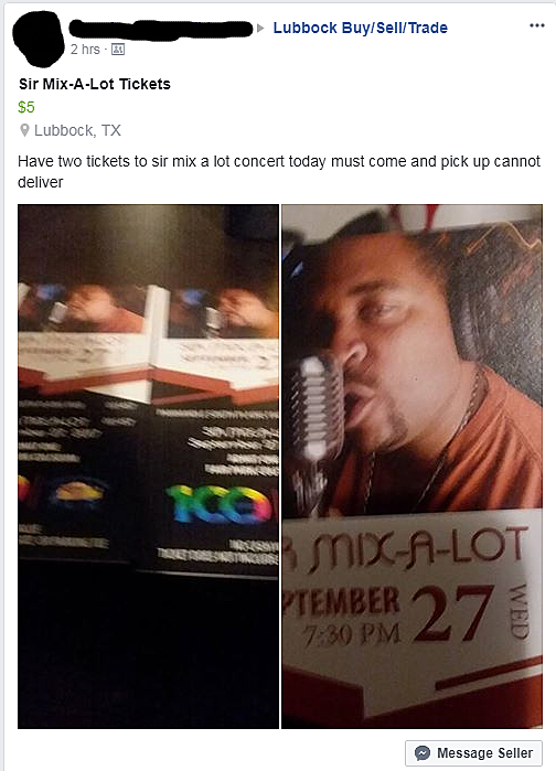 Sir Mix-a-Lot tickets in Lubbock, Texas