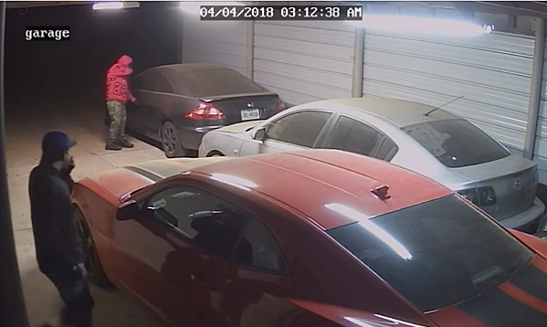 Guys Try to Steal From Lubbock Car, Run When They See the Camera